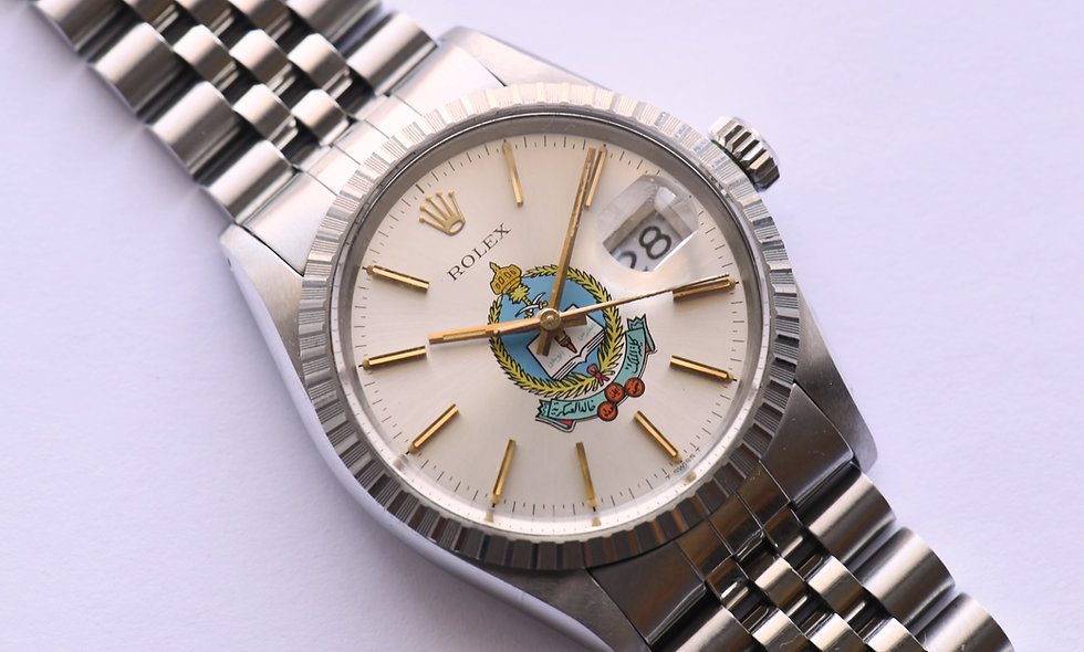 Rolex Datejust 16030 King Khalid Military Academy 1984