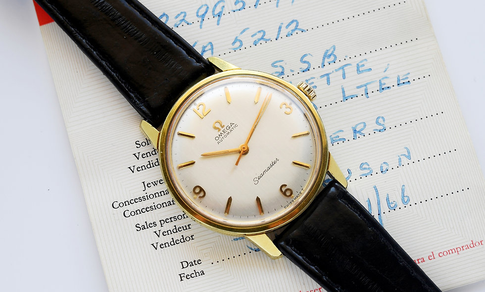 Omega Seamaster Gold Plated Cal 552 185.002 Box Papers