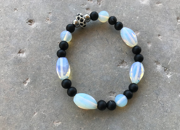 Moonstone, Onyx and Hematite