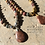 Thumbnail: Matte Picasso Jasper and Metal with Brown Zebra Stone Pendant Necklace