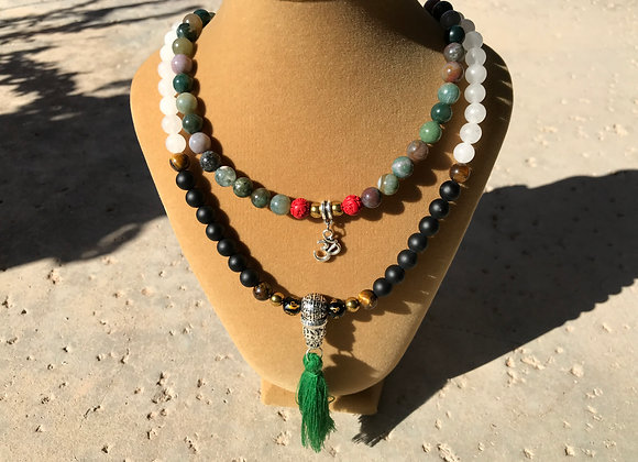 Custom 108 Beaded Power, Protection and Good Fortune Mala