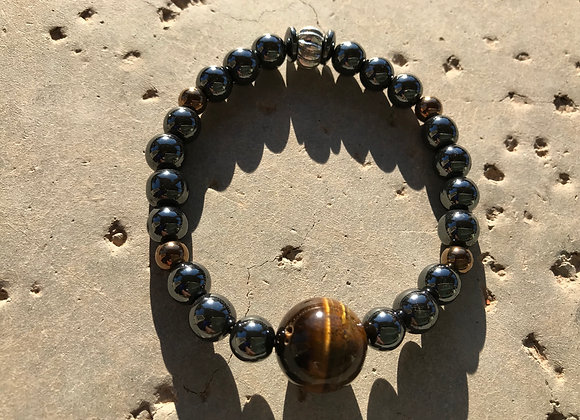 Hematite with Tigereye Bracelet