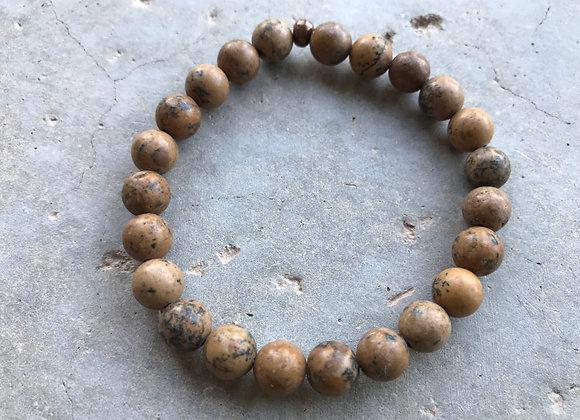 """7"""" 8mm Grain Stone Bracelet"""