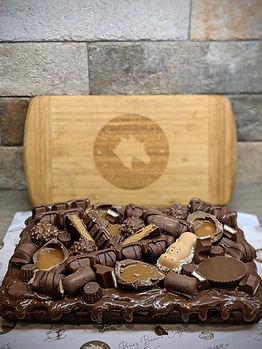 Fully Loaded Ulitmate Brownie slab celebration cake