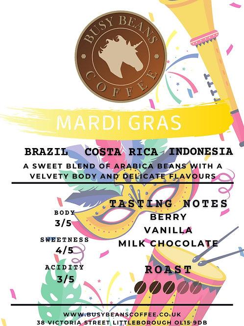 Busy Beans Coffee - Mardi Gras Blend - 250g bag