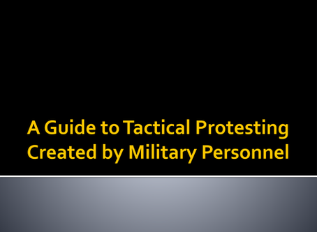 A Guide to Tactical Protesting