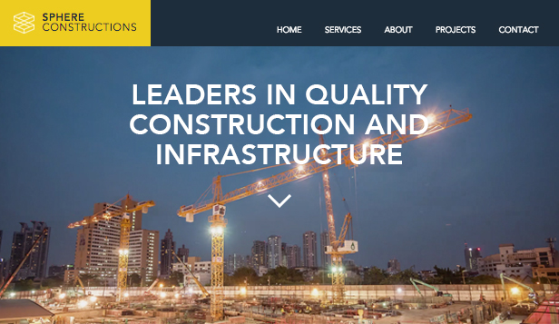 Business website templates – Construction Company
