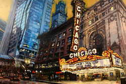 Chicago Theater painting for print