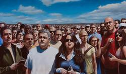 A Large Crowd Gathers