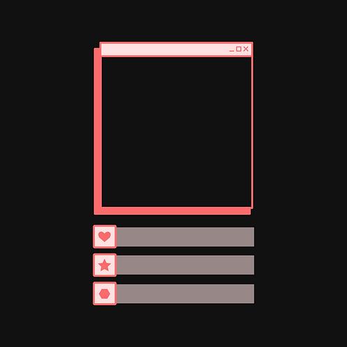Pink Retro Computer Overlays