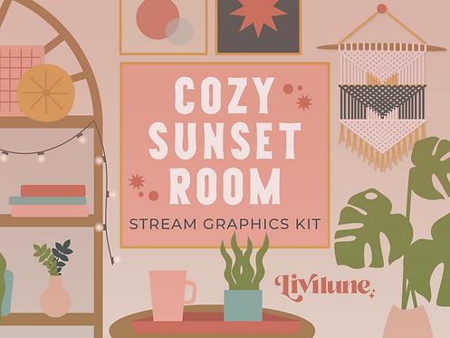 Cozy Sunset Room Stream Graphics Kit