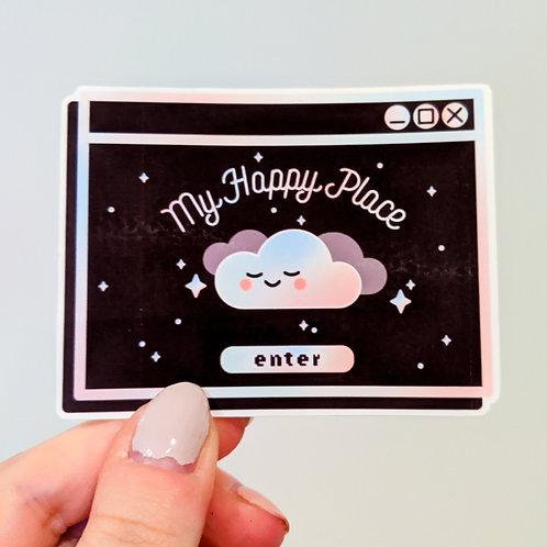 My Happy Place Sticker - Dark Mode