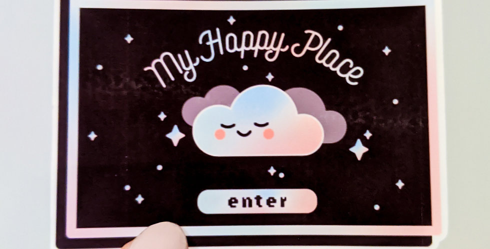 My Happy Place Sticker - Dark Mode