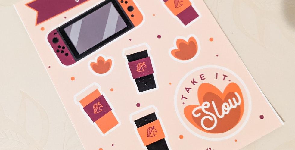 Fall Gaming Sticker Sheet