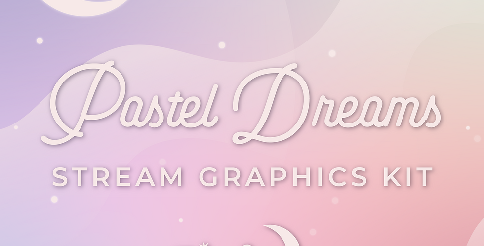 Pastel Dreams Stream Graphics Kit