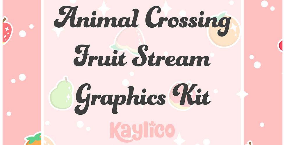 Animal Crossing Fruit Stream Graphics Kit