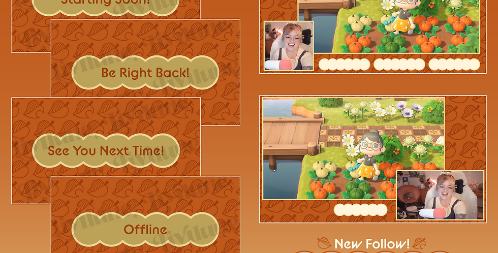 Fall Leaf Stream Graphics Kit
