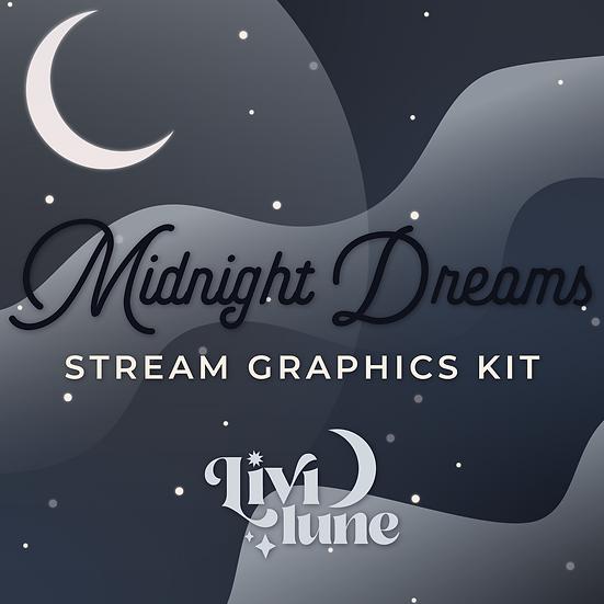 Midnight Dreams Stream Graphics Kit