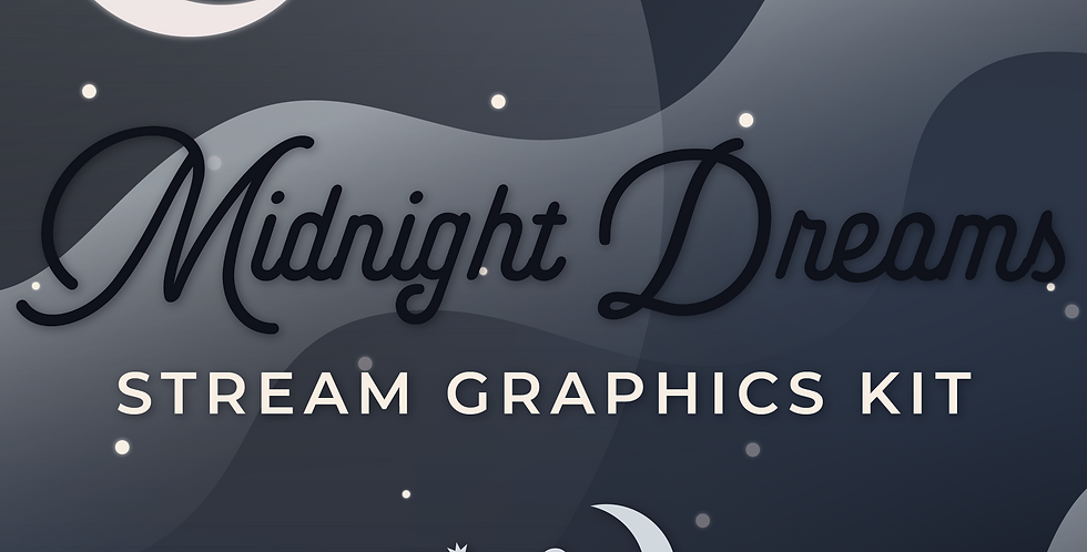 Midnight Dreams Stream Graphics Kit