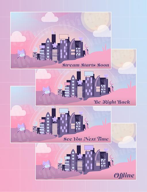 New Lune City Status Screens