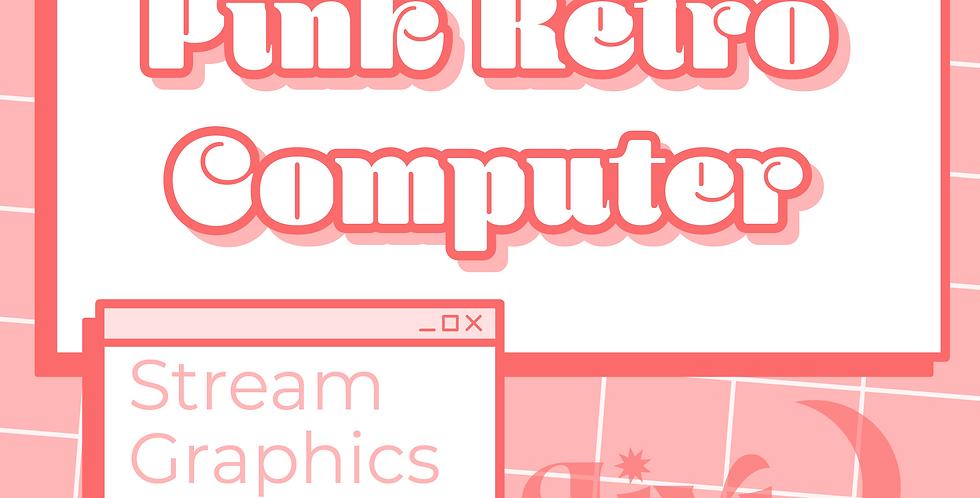 Pink Retro Computer Stream Graphics Kit
