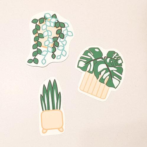 Pretty Pink Plants Sticker Pack (Handcut)