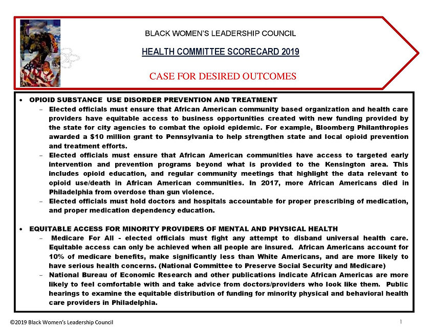 BWLC_ReportCard 2019 HEALTH SECTION - Ca