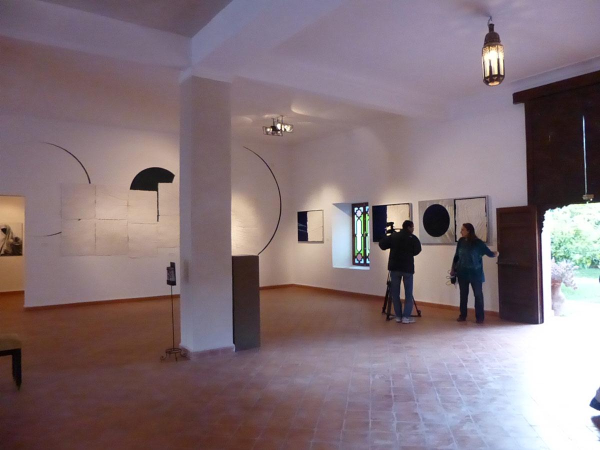 Montaje en el Museo de la Palmeraie