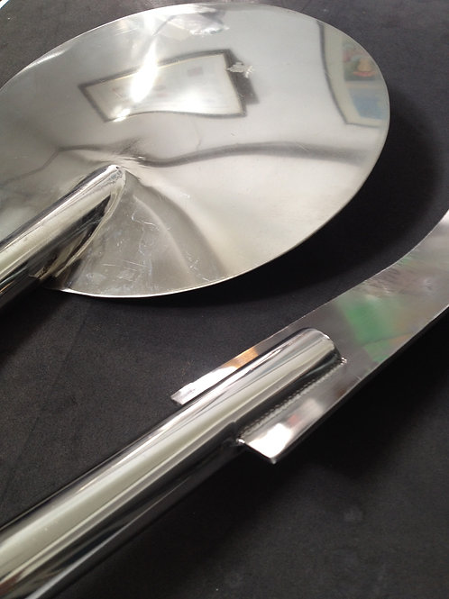 Custom made stainless steel pizza tools