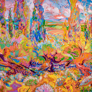 Dmitri Wright -Provencal  Polyphony Opus 4 Toccata and Fugue 60x48 Oil 2017 2.jpeg