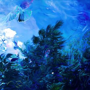 Dmitri Wright Compline Ora Por Nobis Oil on Canvas 42x126