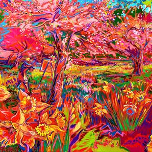 Weir Farm- Daffodil Series - Bursting