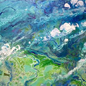 DmitriWright Tidepools Troposfera Series 'mya' 48x36 Aquaessence on Canvas  2018