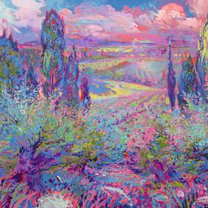 Provencal primavera twilight ( Spring Twilight)