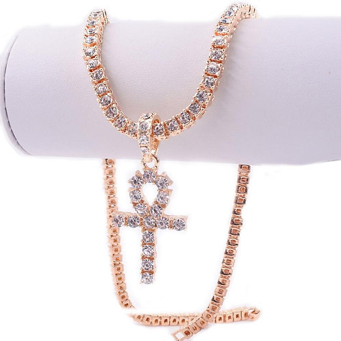 Ankh Necklace (Silver, Rose Gold, Gold)
