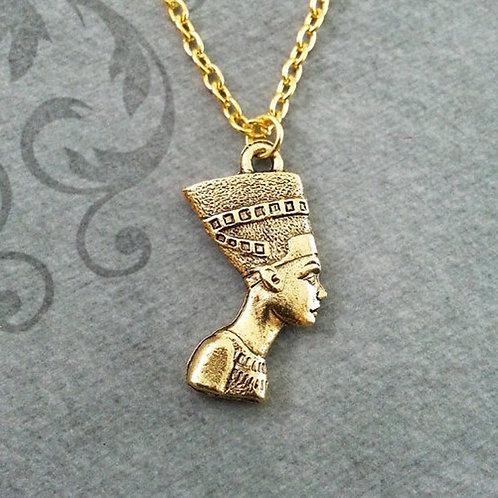 Nefertiti Head Portrait Necklace