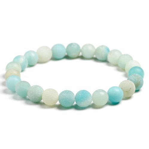 Natural Amazonite Stone Bracelet for Unisex