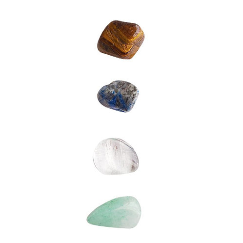 Increase Your Skills: Tiger Eye, Crystal Quartz, Aventurine & Lapis Lazuli