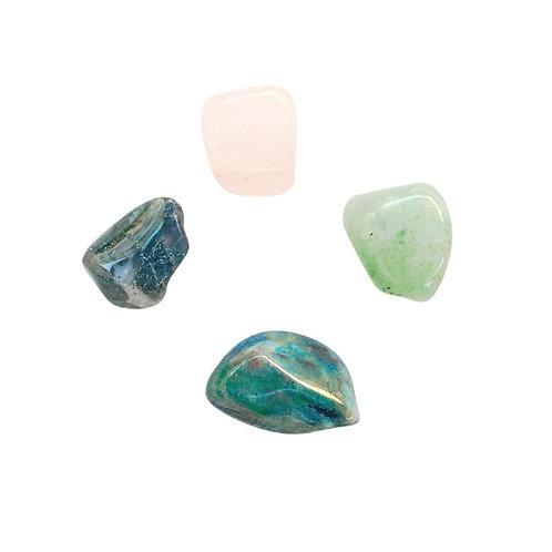 Healing the Heart * Aventurine, Rose Quartz, Moss Agate & Chrysocolla