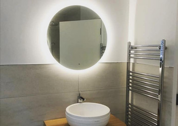 New bathroom LED and heated mirror