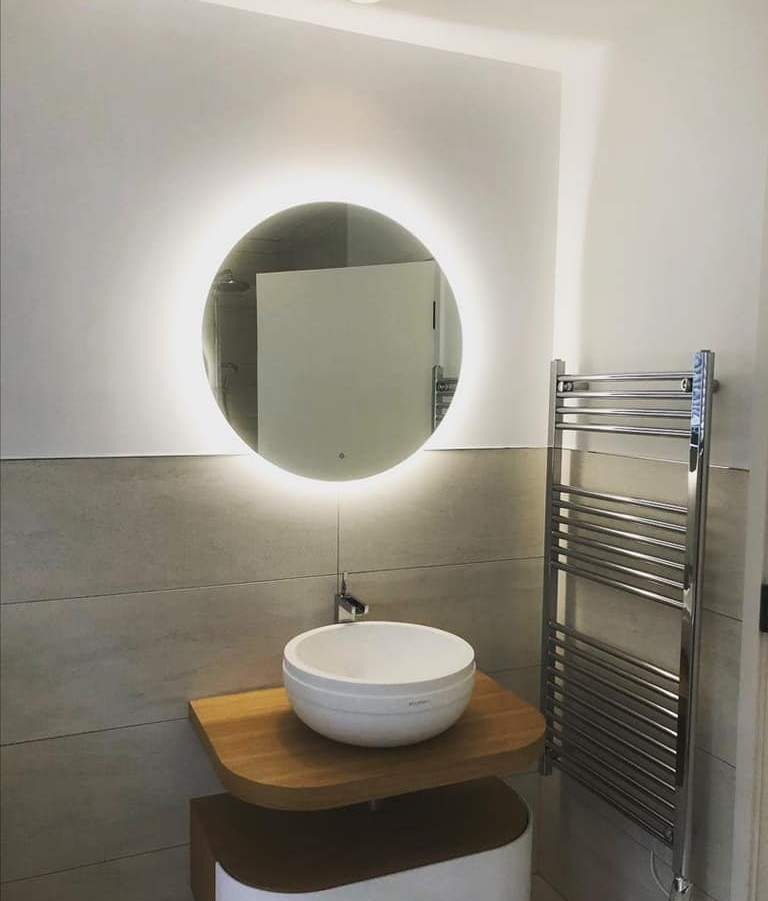 New bathroom LED and heated mirror