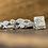 Thumbnail: Princess Cut Vintage Style Diamond Ring