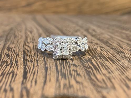 Princess Cut Vintage Style Diamond Ring