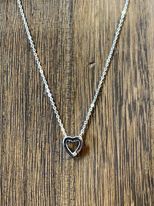 Heart + Diamond Necklace