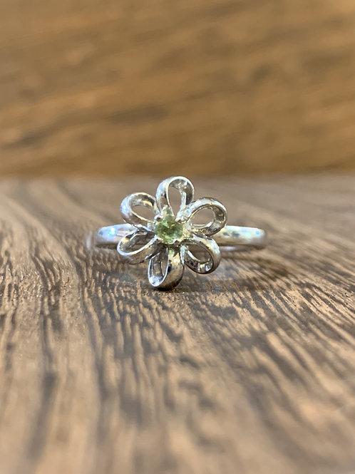 Peridot Flower Ring