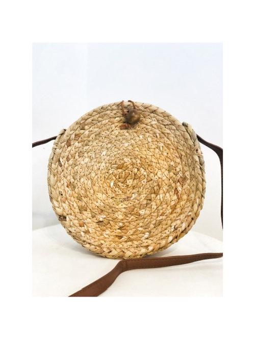 Round Woven Hyacinth Bag