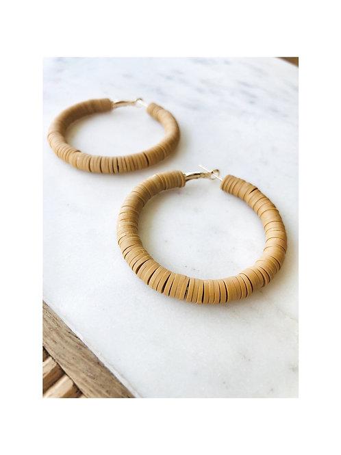 Polymer Clay Hoop Earrings