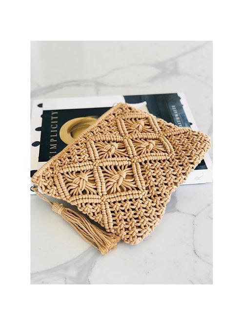 Woven Cotton Clutch Bag