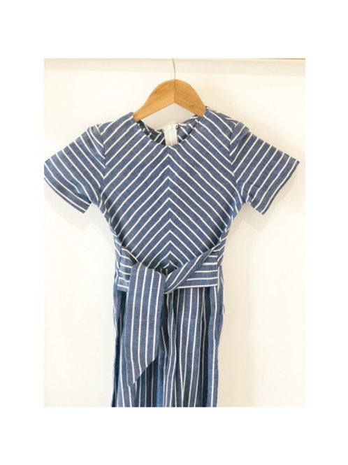 Stripe Chambray Jumpsuit