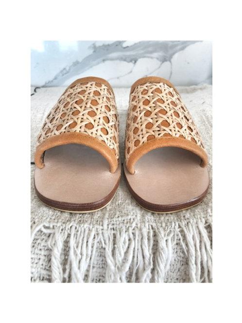 Rattan Leather Slide/Sandal